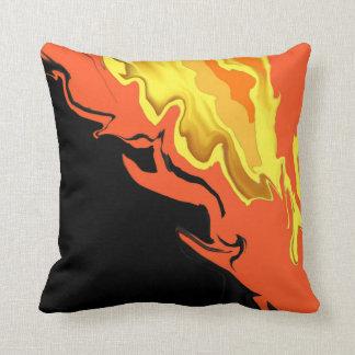 Flames at Night Throw Pillow