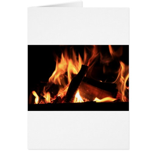Flames Fire Hot Firemen City Office Party Destiny Greeting Card