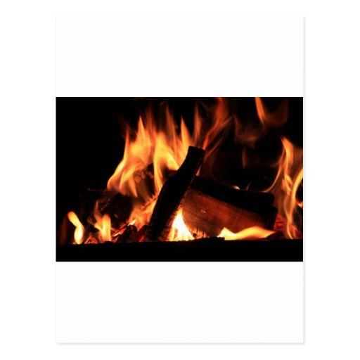 Flames Fire Hot Firemen City Office Party Destiny Postcards