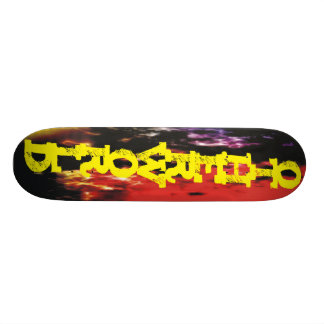Flames fire other world one otherworld skate boards