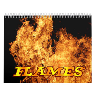 Flames Fire Wall Calendar