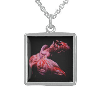 Flames in the Darkness Sterling Silver Necklace