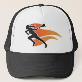 Flames Lacrosse Logo Trucker Trucker Hat