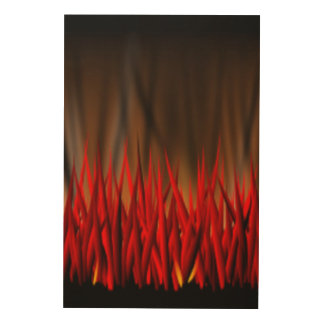 FLAMES OF FIRE WOOD CANVASES