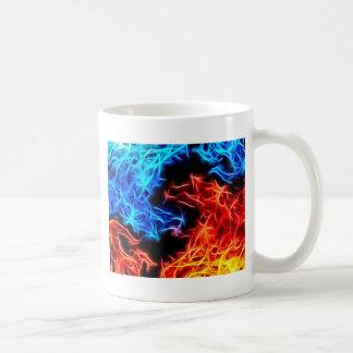 flames of good and evil coffee mug