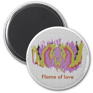 Flames of Love 2 Inch Round Magnet