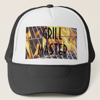 Flames on a Grill, GRILLMASTER Trucker Hat