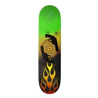 Flames Pistol Target Skateboard