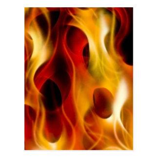 Flames Postcard
