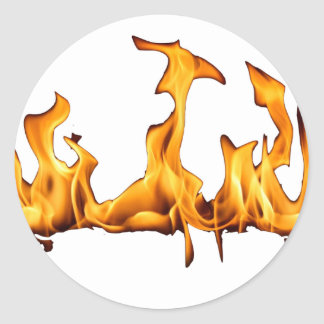flames round sticker