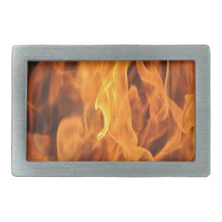 Flames - Too Hot to Handle Rectangular Belt Buckle