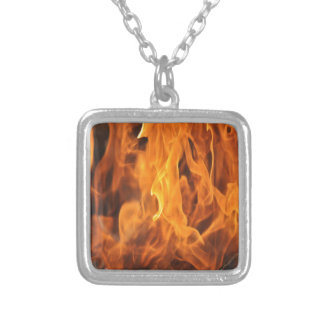 Flames - Too Hot to Handle Silver Plated Necklace