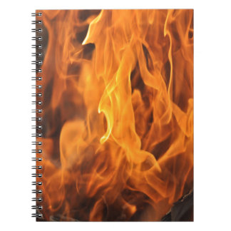 Flames - Too Hot to Handle Spiral Notebook