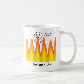 flamewars, Trolling 4 Life Basic White Mug