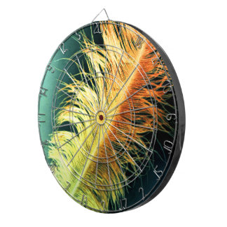 Flamin' Feather Dartboard