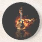 flamin guitar coaster