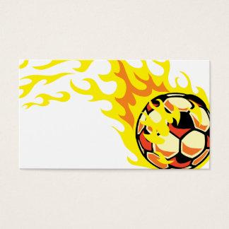 Flamin' Soccer Ball Business Card