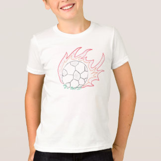 Flamin' Soccer ball t-shirt