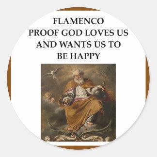 flaminco classic round sticker