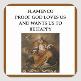 flaminco square sticker