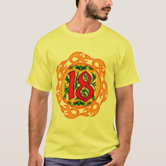 Flaming 18th Birthday Gifts T-Shirt
