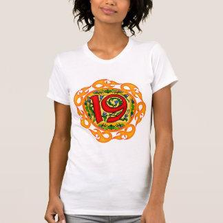 Flaming 19th Birthday Gifts Shirts