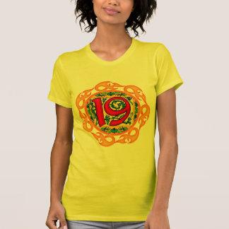 Flaming 19th Birthday Gifts T-shirts