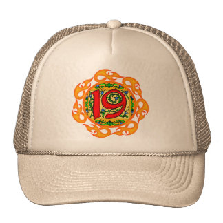Flaming 19th Birthday Gifts Trucker Hat