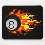 Flaming 8 Ball Mouse Pads