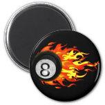 Flaming 8 Ball Refrigerator Magnets