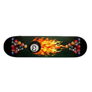 Flaming 8 Ball Skate Board Decks