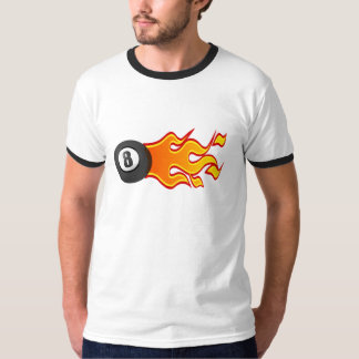 Flaming 8 ball t-shirt