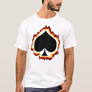 Flaming Ace of Spades T-Shirt