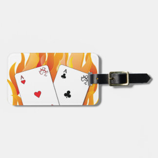 Flaming Aces Luggage Tag