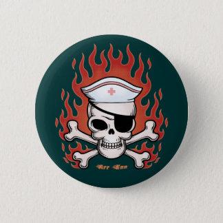 Flaming Arr Enn 2 Inch Round Button