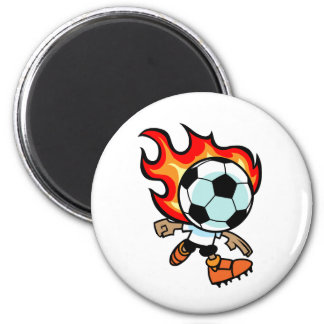 Flaming Ball Head Magnet