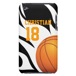 Flaming Basketball Black and White iPod Touch Case-Mate Case