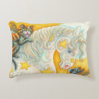 Flaming Bat Cats And Unicorn ACCENT PILLOW