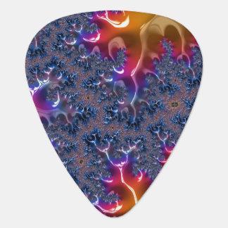 Flaming Blue Guitar Pick