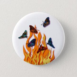 Flaming Butterflies Button
