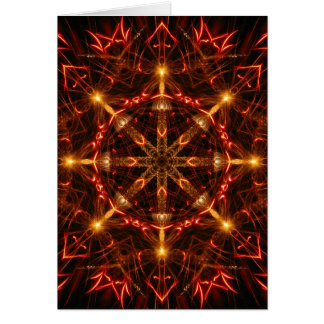 Flaming Candlelit Star Holiday Card