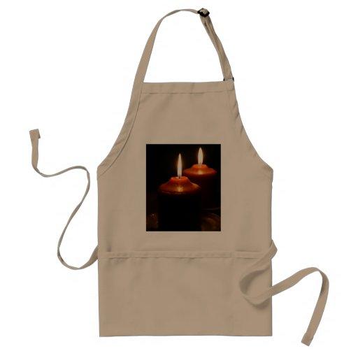 Flaming  Candles Aprons