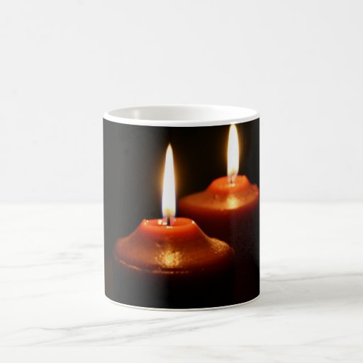 Flaming Candles Coffee Mug