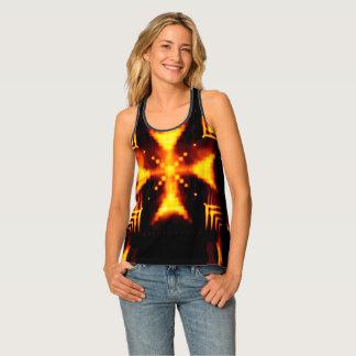 Flaming Cross Tank Top