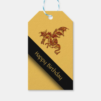 Flaming Dragon Birthday Pack Of Gift Tags