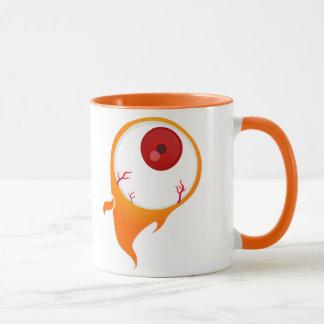 flaming eye mug