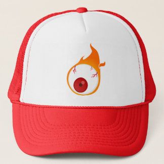 flaming eye trucker hat