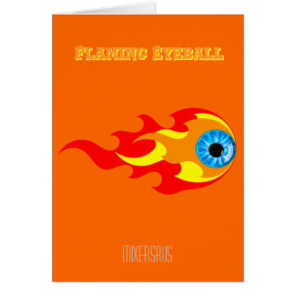 Flaming Eyeball Drink Recipe Greeting Card