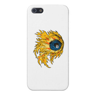 Flaming Eyeball On Fire Drawing Cover For iPhone 5/5S