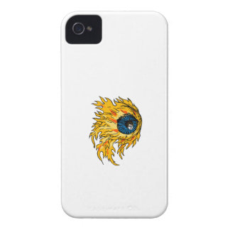 Flaming Eyeball On Fire Drawing iPhone 4 Case-Mate Case